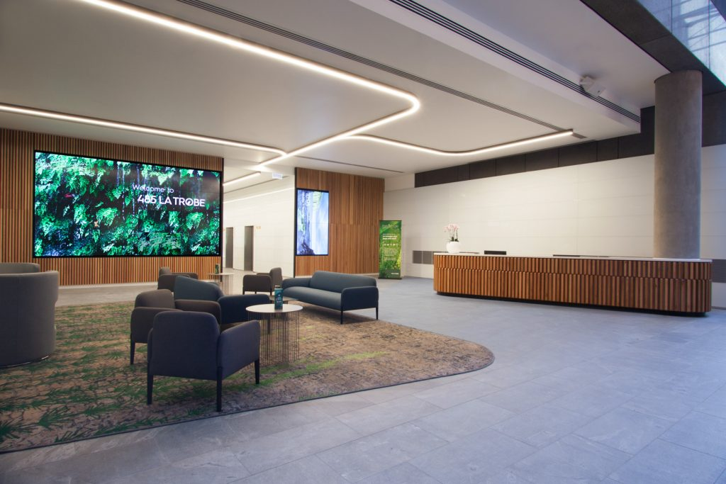 Custom built joinery by ISM Interiors for the latest refurbishment at 485 La Trobe Street.