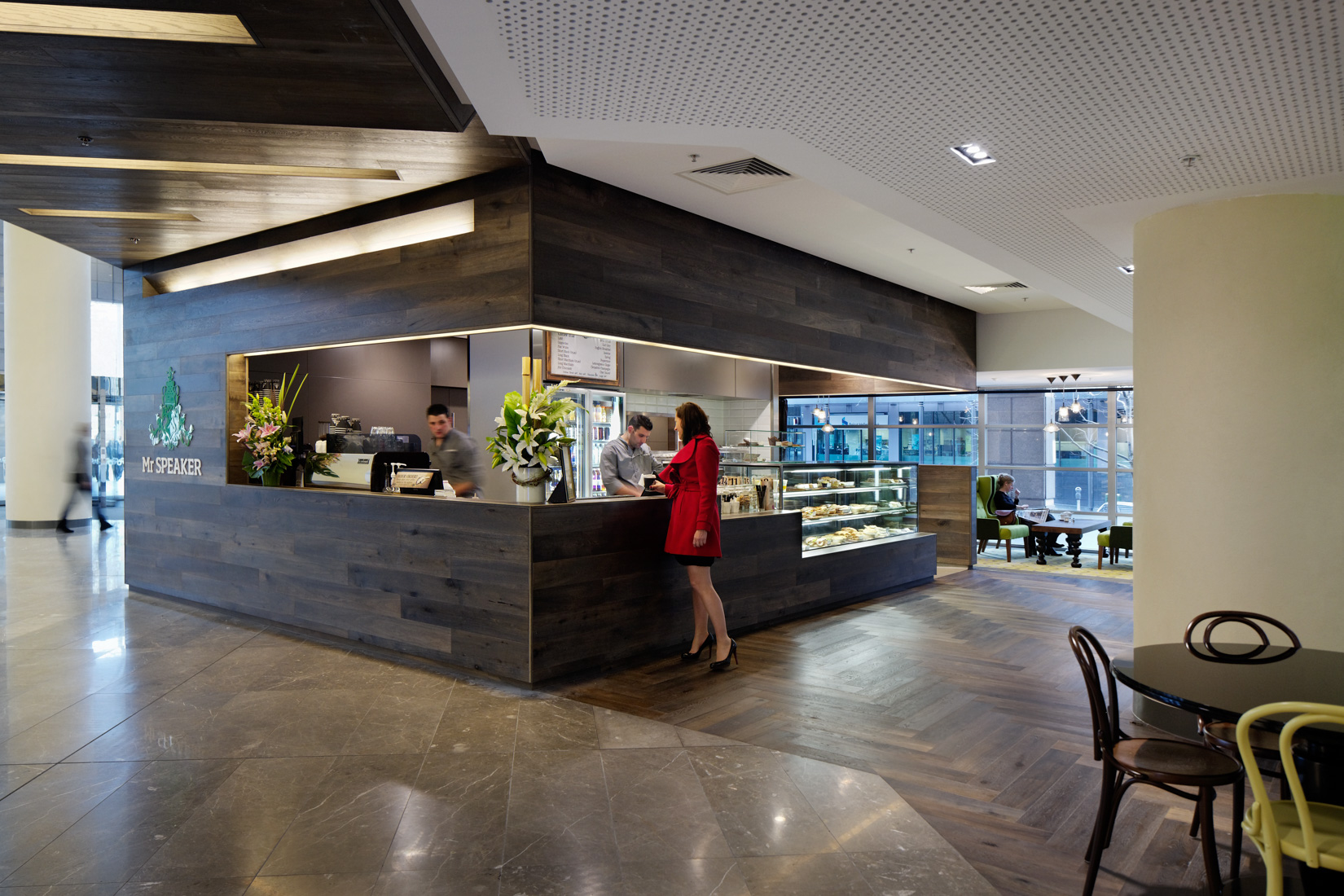 ISM Interiors created a light-filled entrance with new interior finishes and a café for Casseldon Place.