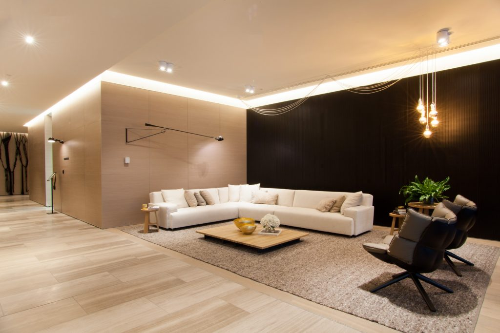 Architectural common areas created by ISM Interiors for the newly developed apartment building, Concavo, in Melbourne.