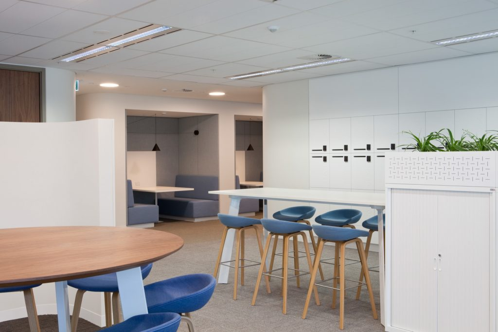 ISM Interiors built and installed a variety of architectural joinery for the recent Jemena office fitout in Melbourne.