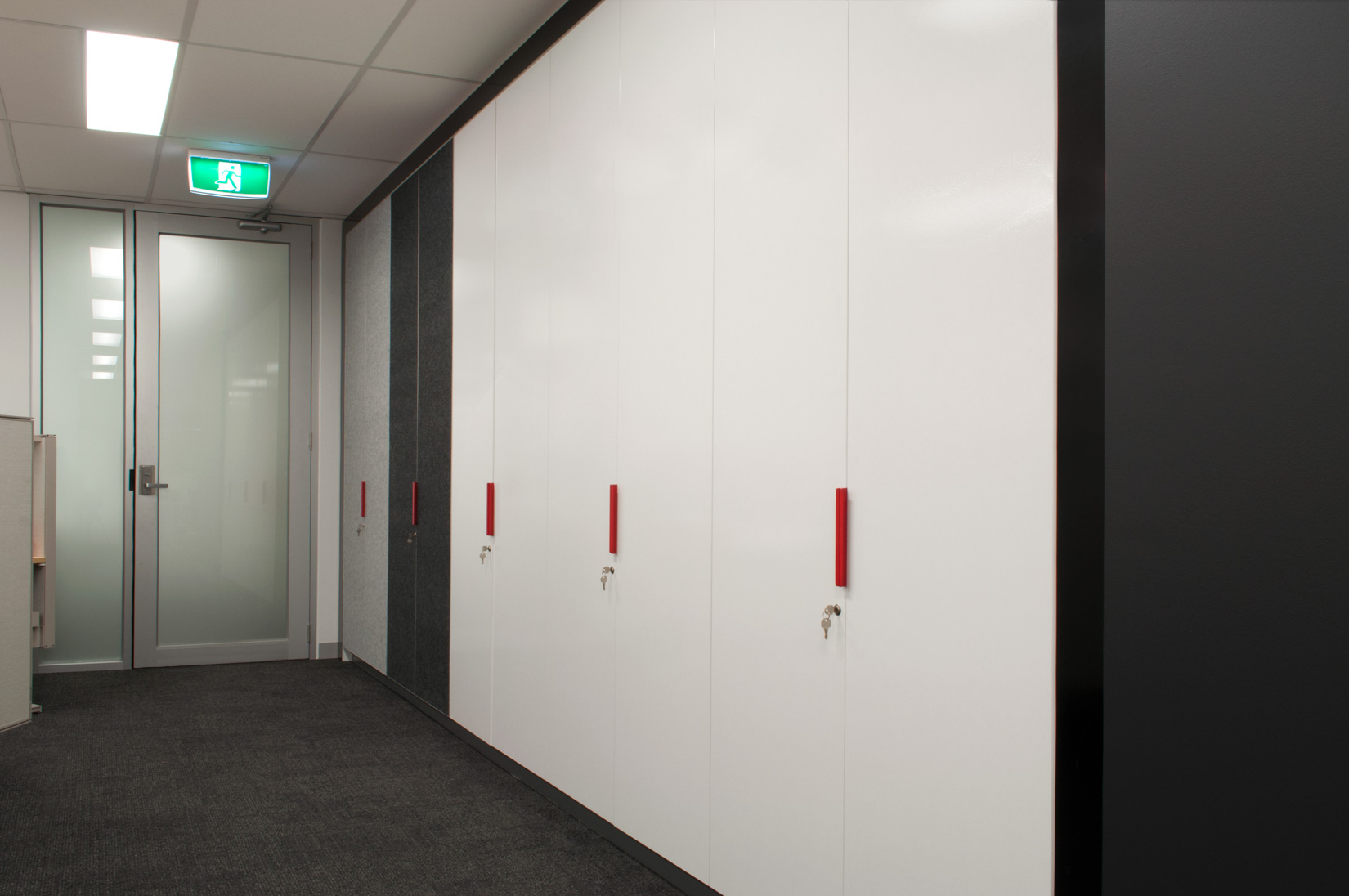 Commercial joinery works completed by ISM Interiors for the PTV Hub in Melbourne