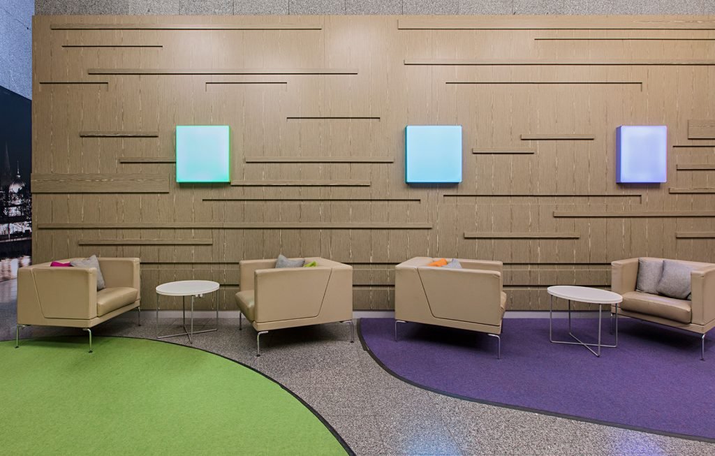 Telstra employee break out space by ISM Interiors