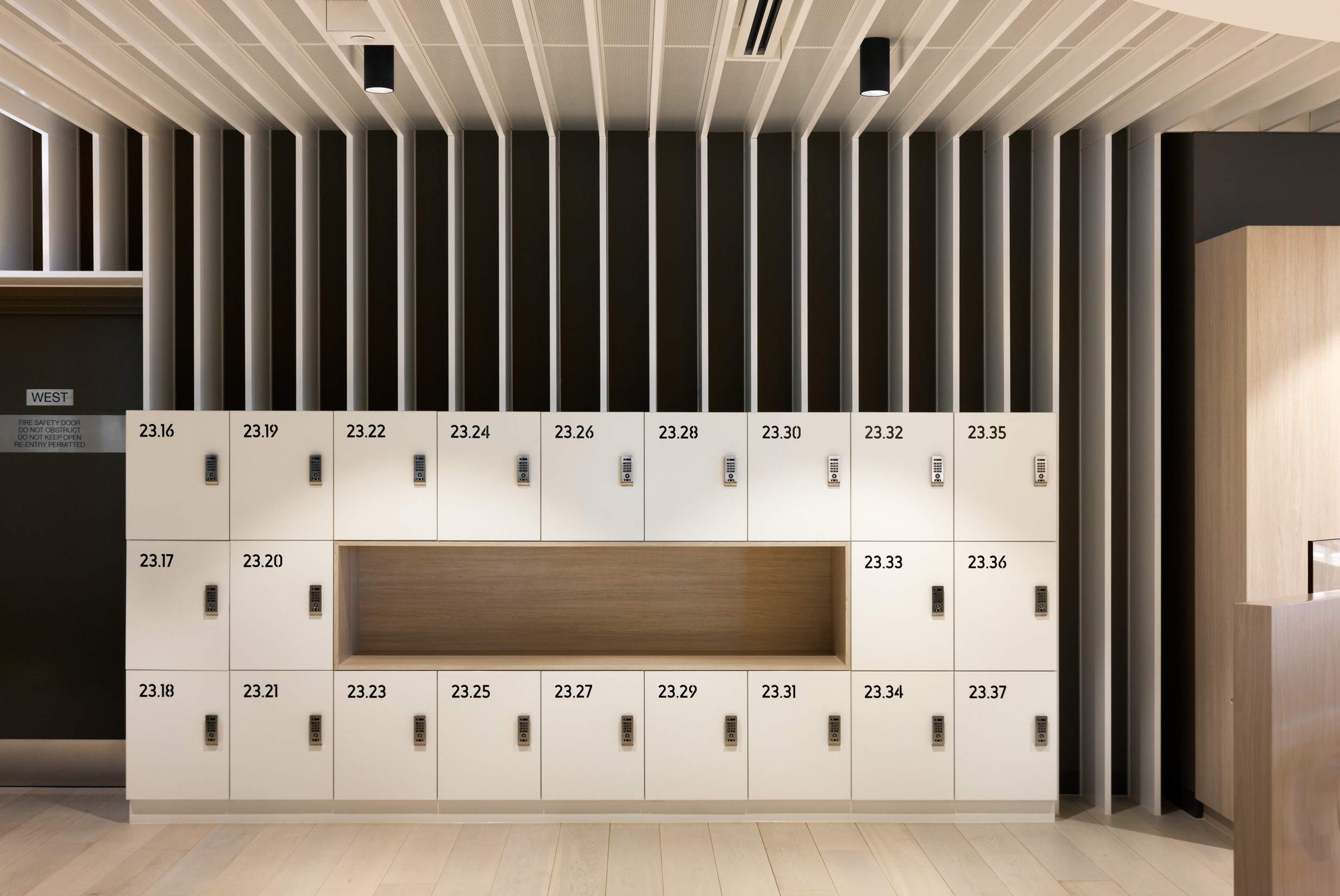 Transurban lockers and fit out by ISM Interiors in collaboration with Lockin